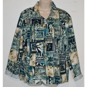 Additions by Chico's Printed Lightweight Jacket 3